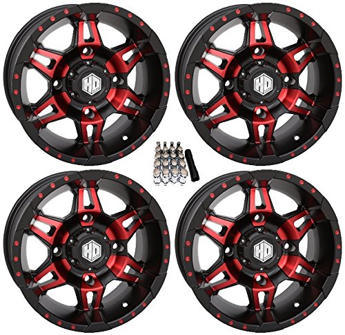 STI HD7 UTV Wheels/Rims Red/Black 14