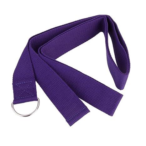 Desconocido 180cm Correa de Yoga Cinturón de Estiramiento Práctica de Ejercicio Físico -Púrpura