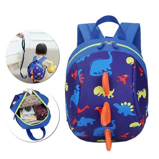 3D Cartoon Kids Harness Backpack, Vandot Anti-lost Leash Safety Strap School  Bag Dinosaur Walking Travel Safety Backpack Lunch Bag Kindergarten Preschool  ... 3aa7dc7280