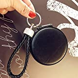 YChoice Cute Baby Toy Mini Round Shape Double-Side Cosmetic Mirror Small Glass Mirrors Crafts Decoration Black