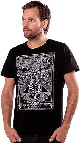 Camiseta Negra con Abeja Reina Fly Illuminati - Ropa Urbana de diseño en algodón Premium para Hombre - Talla M: Amazon.es: Ropa y accesorios