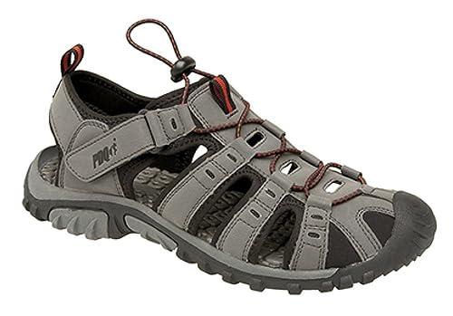 af68eb087 PDQ M040 - Sandalias deportivas para hombre, color dark grey/red, talla 42