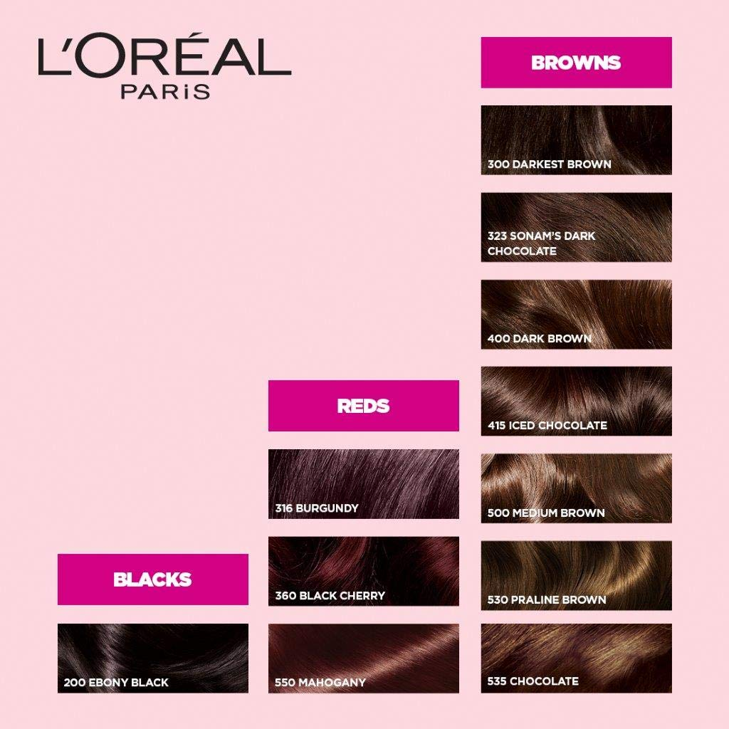 L'Oreal Paris Casting Creme Gloss Hair Color Shade Card