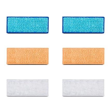 YIMALER 6pcs lavable almohadillas de limpieza Accesorios para iRobot Braava Jet 240 241