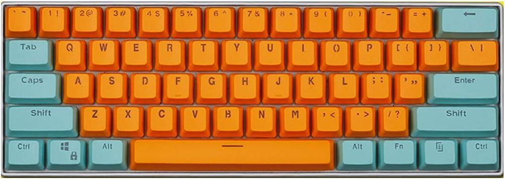 Six6 Gaming tecla Clave PBT, 60% mecánica del Teclado tecla ...