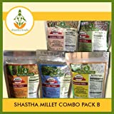 Millets combo Pack of B (Pearl, Banyard, Little, Sorghum & Kodo Millets)