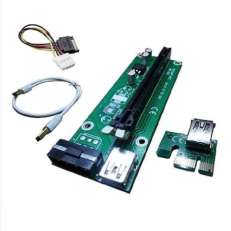 Alimentación Fixable PCI-E 16 X a 1 x Tarjeta vertical ...