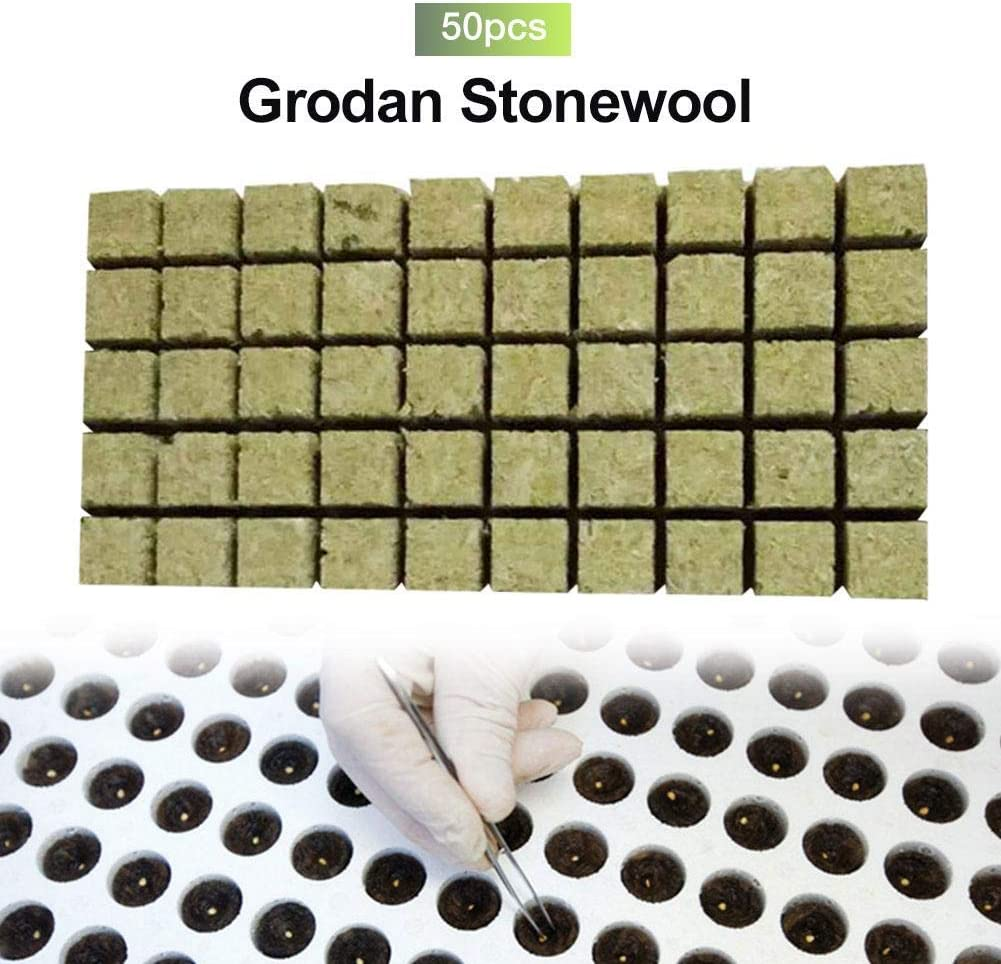 Seed Starting Cloning Plant Propagation auspilybiber 36/×36/×40mm//25/×25/×40MM Starter Plug Rockwool Hydroponic Grow Media 50 Cubes Stonewool Starter Cubes for Cuttings