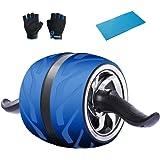 KANSOON 凯速 健身器材自动回弹健腹轮美版宽轮健腹器风火轮腹肌轮健腹滚轮KA57 (蓝色)