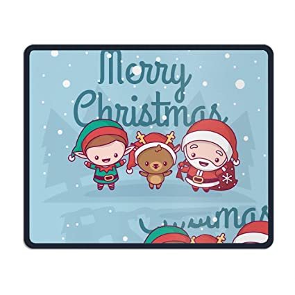 Amazon.com : Natural Rubber Mouse Pad Printed with Merry Christmas ...