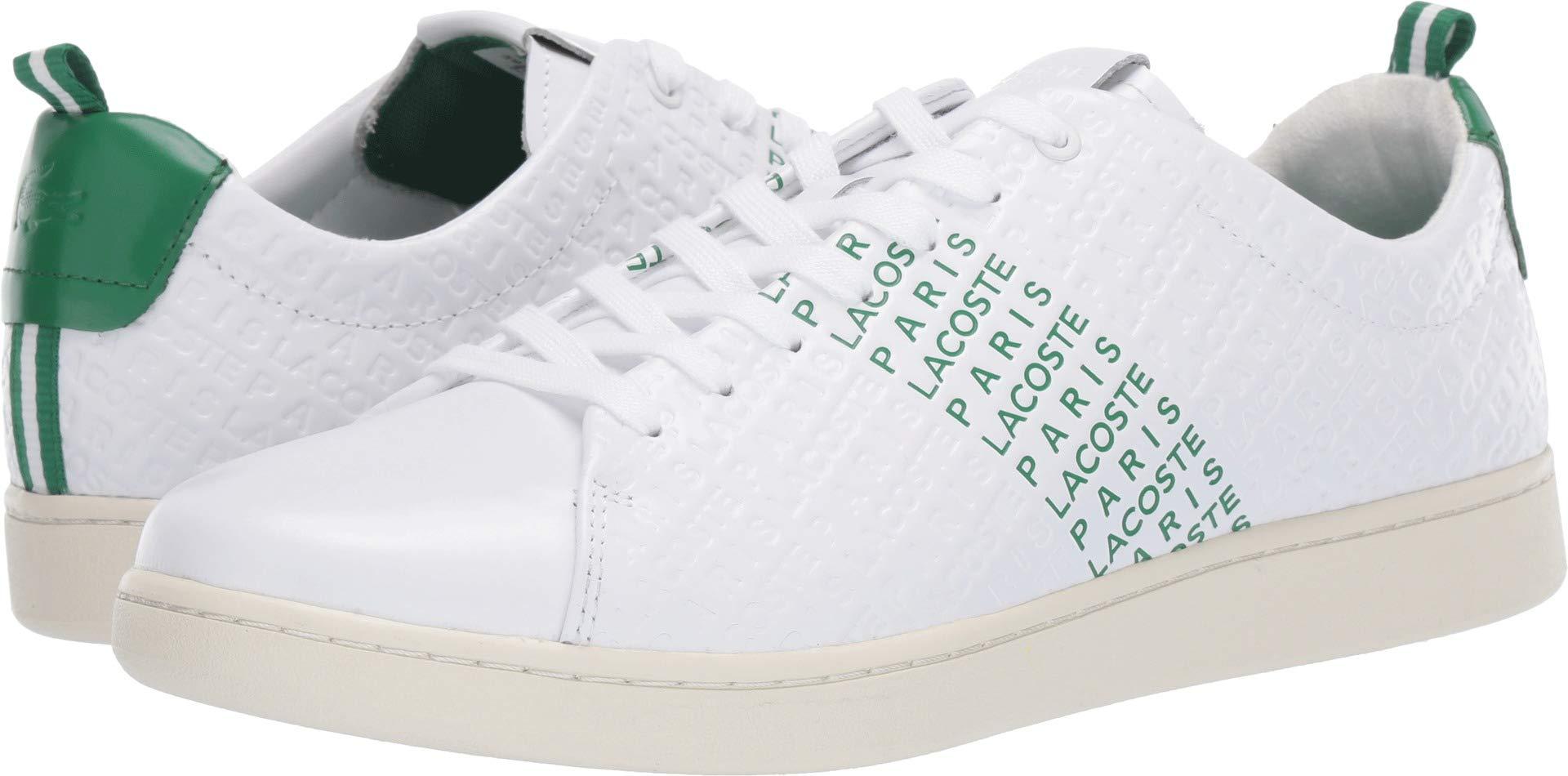 ae33f827 Lacoste Men's CARNABY EVO Sneaker, White/Green, 9 Medium US