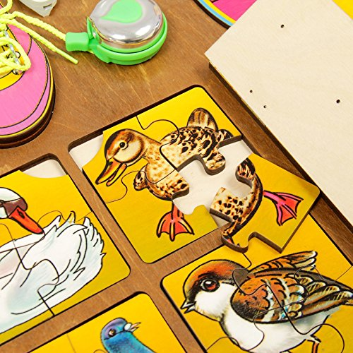 Wooden Activity Busy Board for Girls by Neskuchnye igry (Image #6)