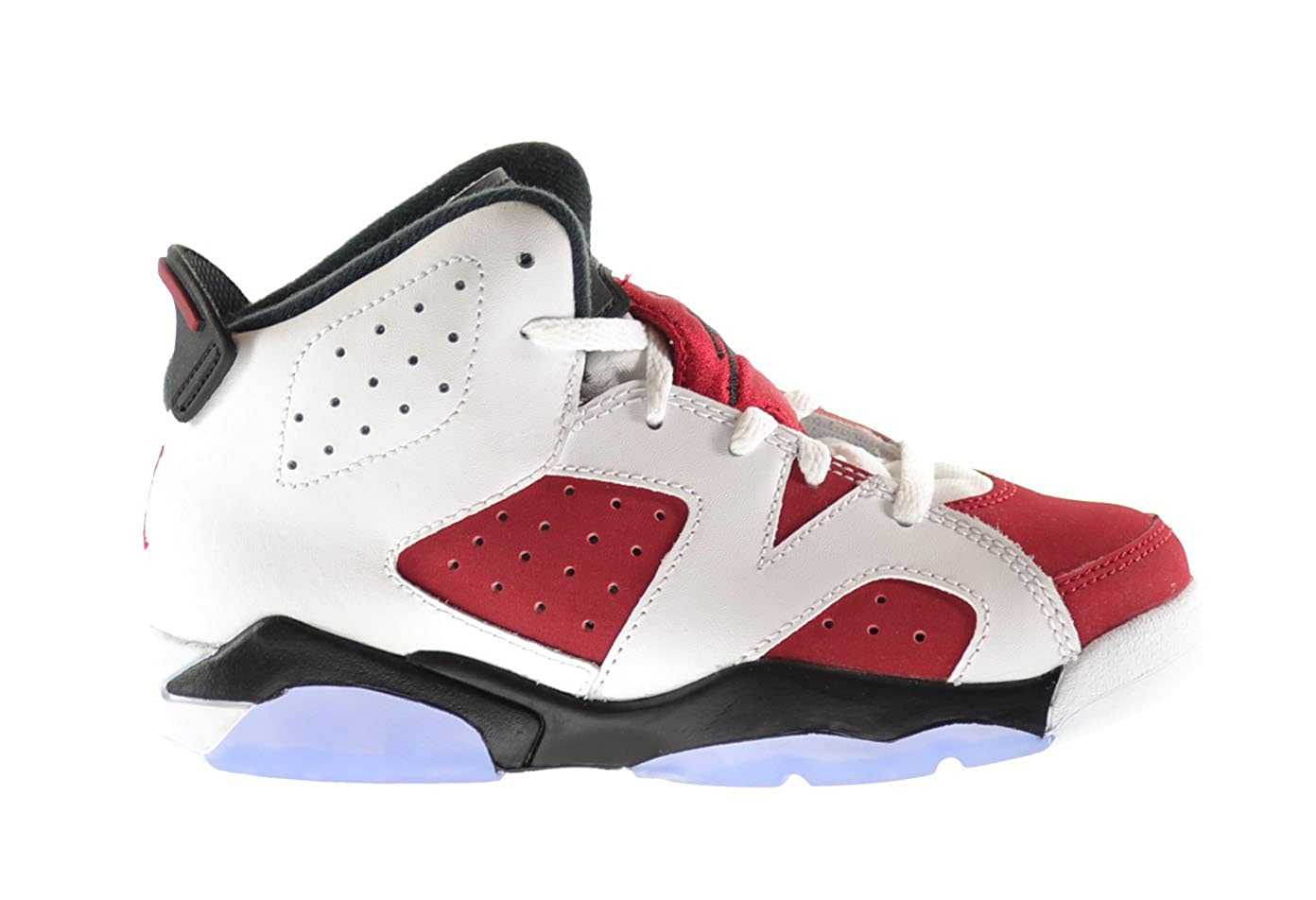 new concept 4054f adf5b Jordan Air Retro 6 BP Little Kids Shoes White/Carmine-Black 384666-160