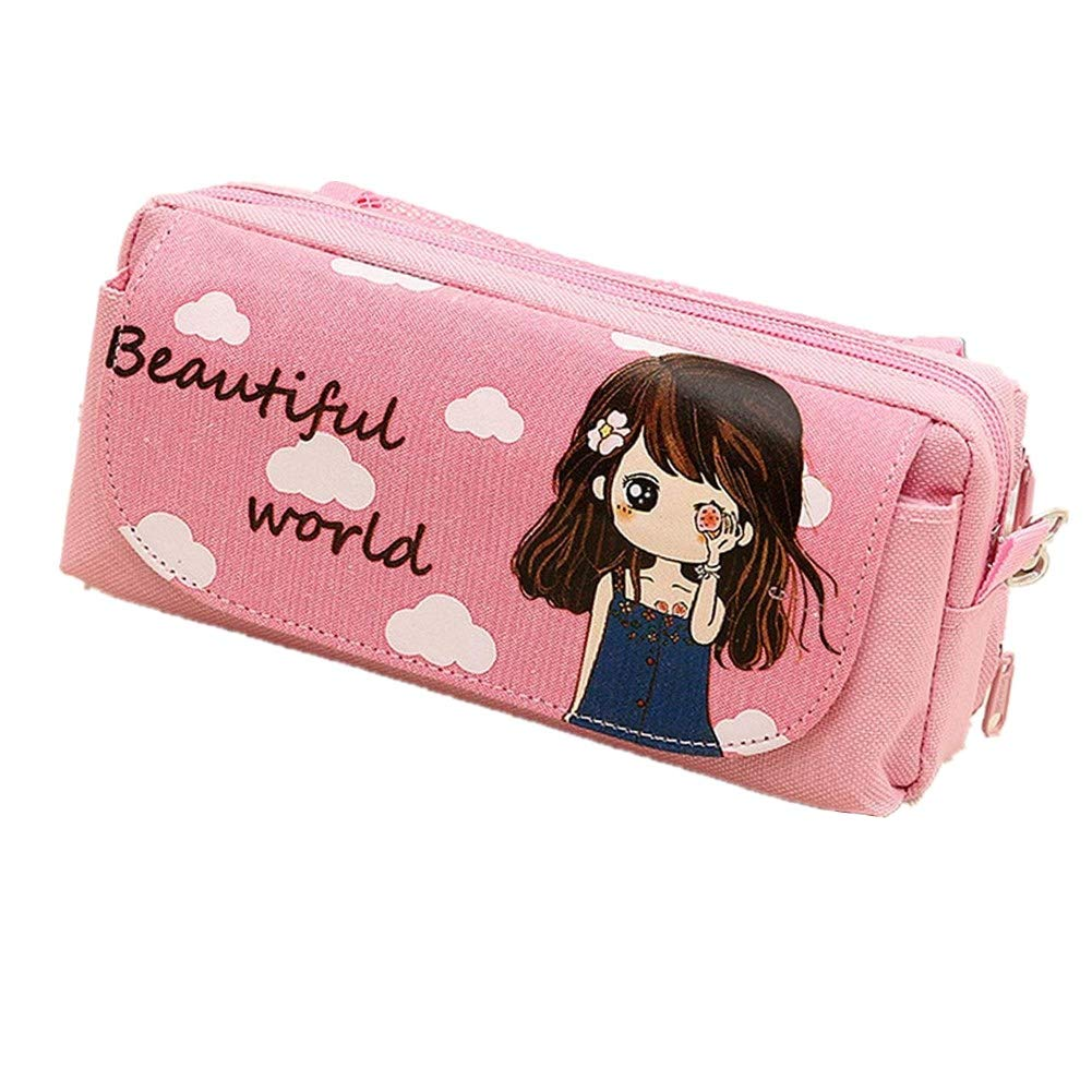 Inside Out Pencil Case Pencil Box Pink