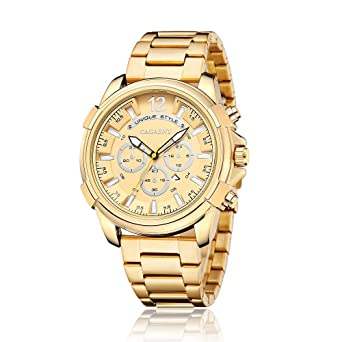 Amazon.com: Reloj HWCOO 6882 de cuarzo con correa de acero ...