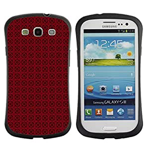 ArtSpace Premium Hybrid Back Case Cover Samsung Galaxy S3 III i9300 ( red flowers )
