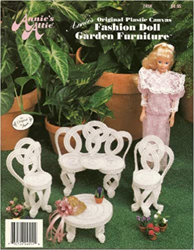 Annie's Original Plastic Canvas Fashion Doll Garden Furniture