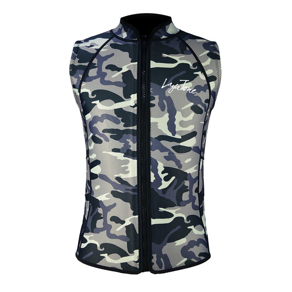 Layatone 2mm Wetsuit Vest Men Women Diving Vest Top Scuba Vest Canoeing Sauna Suit Vest Neoprene Top Sleeveless Wet Suit Adults by Layatone