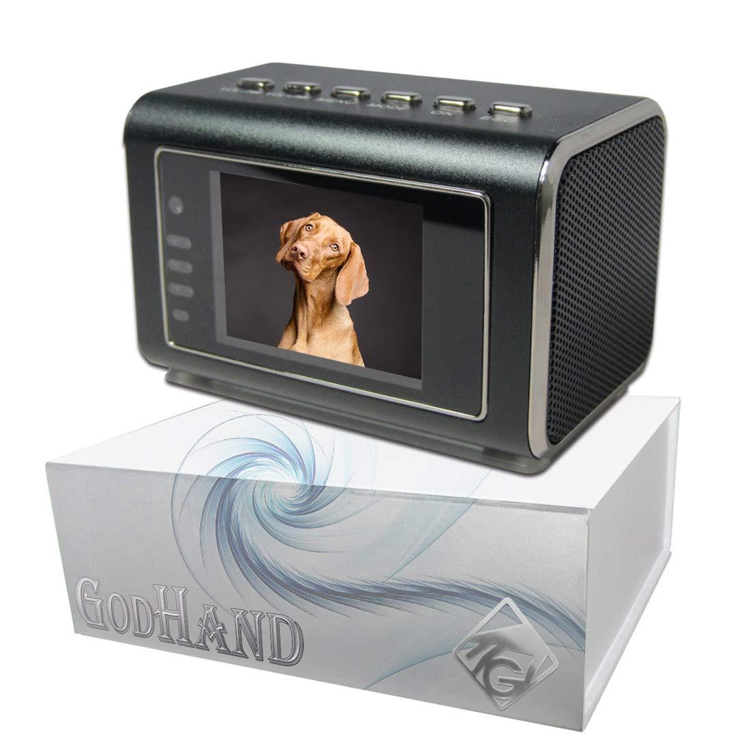 数量限定セール  【GOD HAND【GOD】高性能スピーカー搭載 置時計型ビデオカメラ(製品ディスプレイ上で再生&削除可能!!) 長時間録画 長時間録画 最長5日以上保存可能(ロングモード時)、連続録画、録音、動体検知、暗視(IR LED)、上書き、時計、MP3再生、通電利用、高容量バッテリー1000mAh搭載 ブラック【KANTO-SEIKO 正規保証書付き】 B01BTTCW74, カミタカラムラ:e27d32e8 --- a0267596.xsph.ru