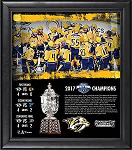 "Nashville Predators Framed 15"" x 17"" 2017 NHL Western Conference Champions Collage - Fanatics Authentic Certified"