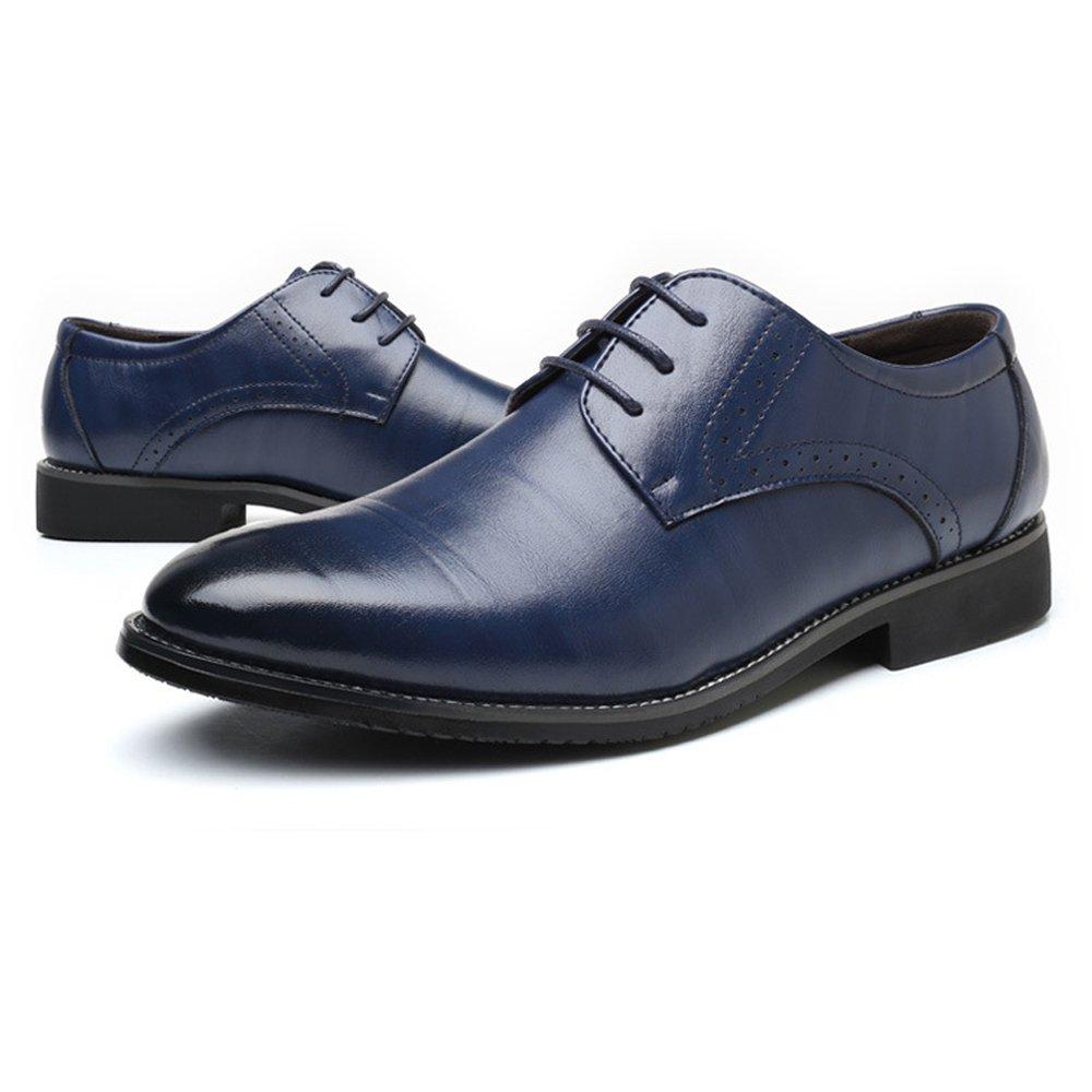 JUJIANFU-Bequeme Schuhe Formale Geschäfts-Schuhe der einfachen einfachen einfachen Männer formales PU-Leder-Oberleder schnüren Sich Oben Oben Breathed gefütterte Oxfords  db51e2