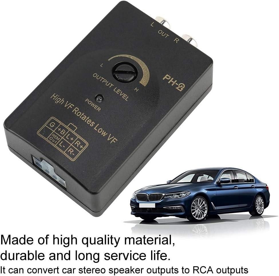 KSTE Auto Auto RCA-Stereo-Lautsprecher Hoch bis Low-Level-Converter mit Verz/ögerungsfunktion