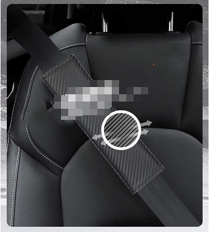 wangjianbin para Suzuki 1 Par De Cuero Genuino Cubierta De Cintur/óN De Seguridad Protector De Hombro Sporty Car Styling