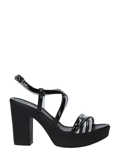 Sandalo Giardini P908121d Tacco Donna Nero 8PXZNwOkn0