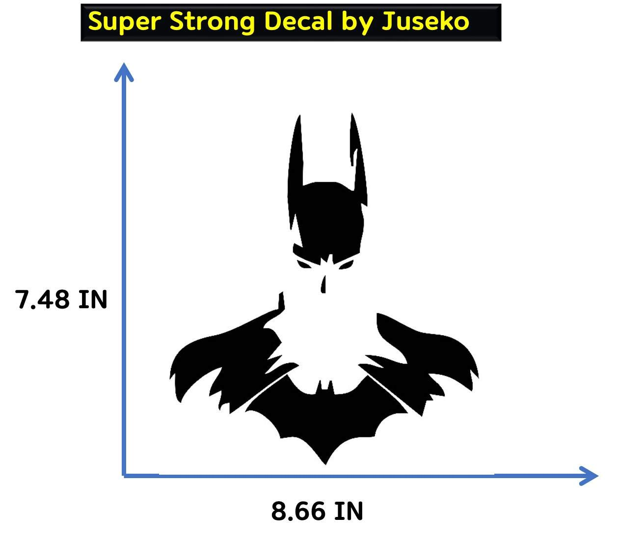 Decal batman dc man wei bruce wayne car back window affixed to body stickers hollowed out reflective waterproof ipad iphone macbook laptop skateboard