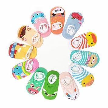 Cheefull 12 Paar Rutschfeste Socken Fur Madchen 8 36 Monate Baby Und
