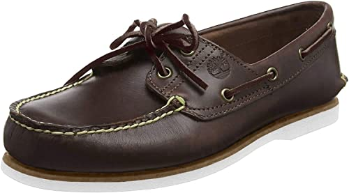 huge discount a few days away shop best sellers Timberland Men's Classic 2-Eye Boat Shoe, Dark Brown, 10 M