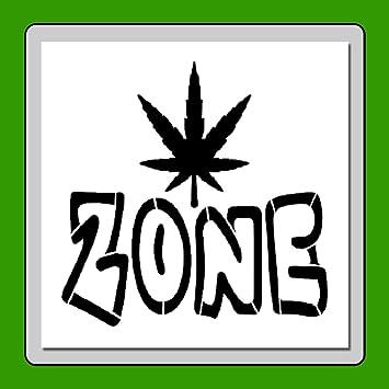 Amazon Com 6 X 6 Inch Weed Zone Stencil Template Pot Leaf Marijuana