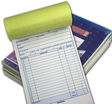 Large Sales Order Book Receipt Invoice Duplicate Carbonless Copy 50 Sets 5.5 X 85