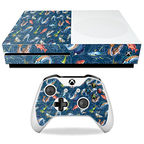 MightySkins Skin for Microsoft Xbox One S - Saltwater Compass | Protective, Durable, and Unique Vinyl Decal wrap Cover | Easy to Apply, Remove, and Change Styles | Made in The USA