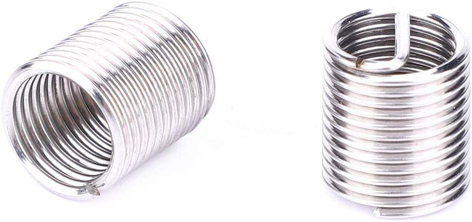Thread Repair Tool Stainless Steel 20Pcs Rethreading Tap Set for Female Thread Repairing Insert Sleeve
