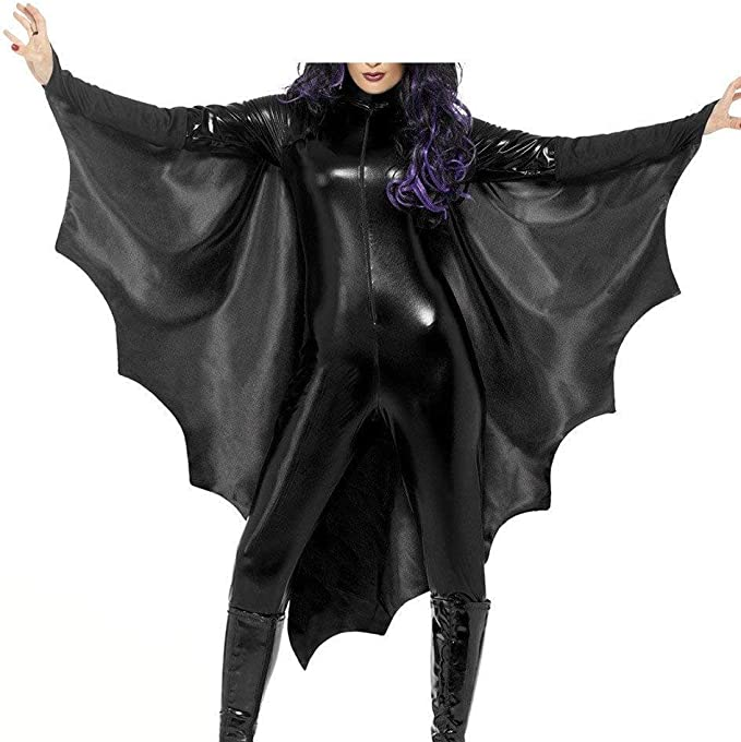 Mujer Halloween Ropa Vintage Murciélago Fashion Skinny Trajes ...
