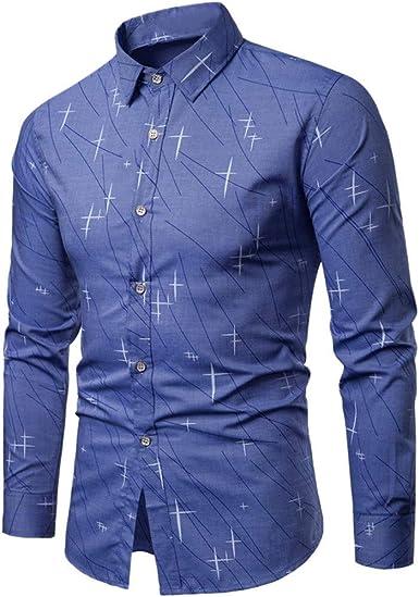 Rawdah Camisas Hombre Manga Larga Camisas Hombre Grandes Camisas Hombre Traje Slim Fit Camisas Casual Camisa de otoño para Hombre Camisa Casual de Manga Larga Suelta Camisa Casual: Amazon.es: Ropa y accesorios