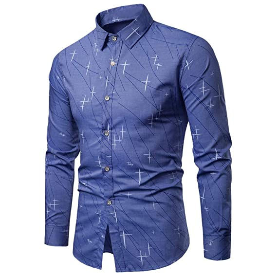 Rawdah Camisas Hombre Manga Larga Camisas Hombre Grandes Camisas ...
