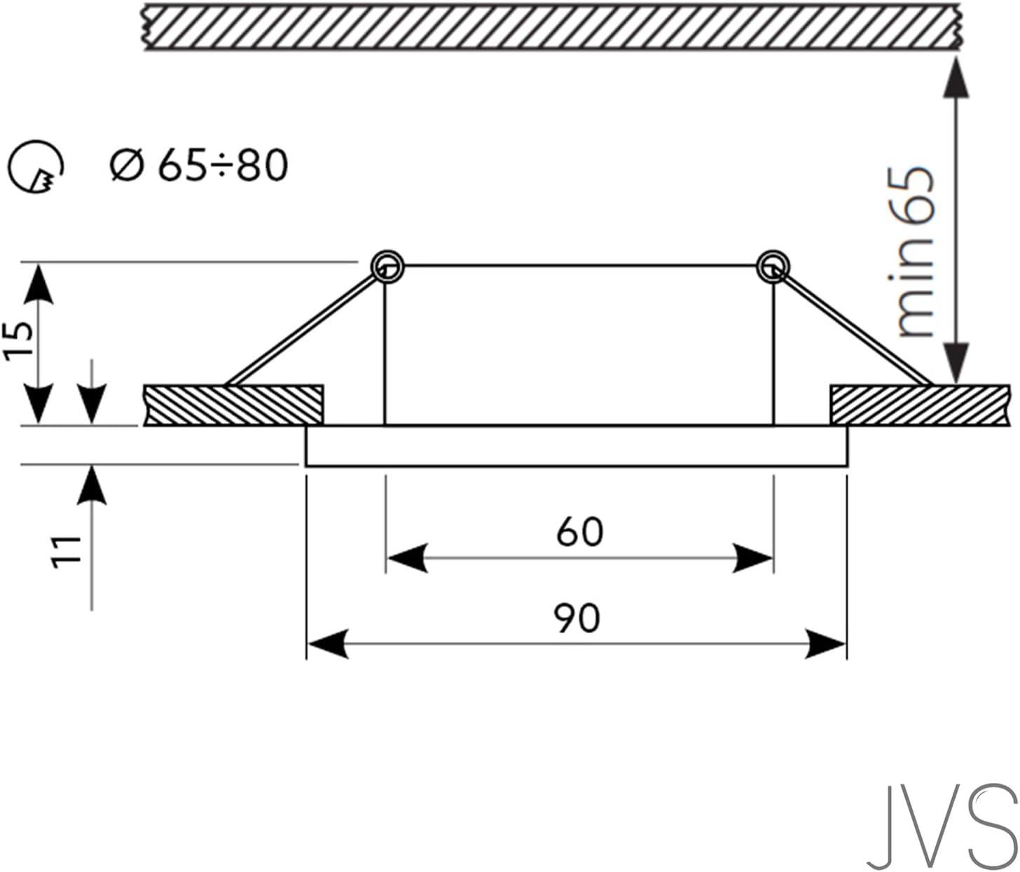 LED Einbaustrahler aus Glas/Spiegel/Schwarz CRISTAL Eckig Inkl. 6 X 7W LED Warmweiss 230V IP20 LED Deckenstrahler Einbauleuchte Deckeneinbaustrahler Einbauspot Deckeneinbauleuchte Deckenspot 1 Stück