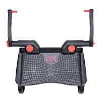 Lascal Mini BuggyBoard, Compatible with 99% of Pushchairs, Ideal For Smaller Strollers, 3D Red