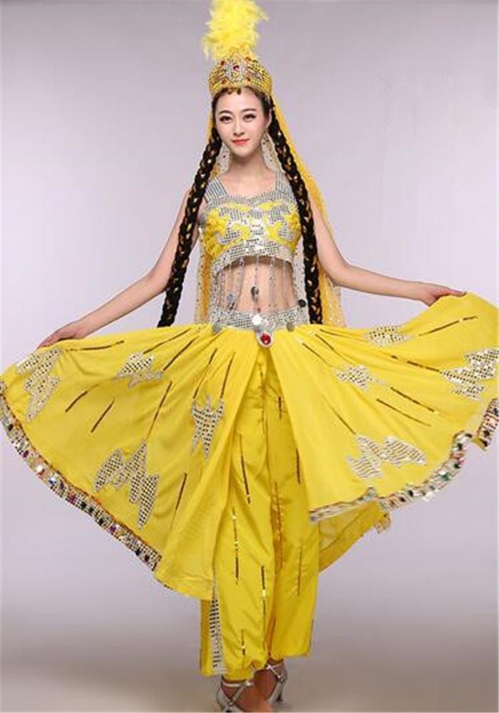 Jaune peiwen Costume de Costume de Danse féminin Danse Classique Spectacle de scène Spectacle de Danse L