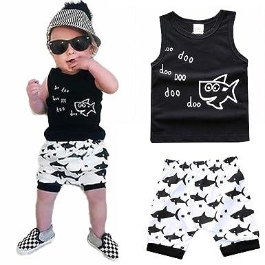 Amazon Com Newborn Baby Boy Girls Summer Shorts Set Shark