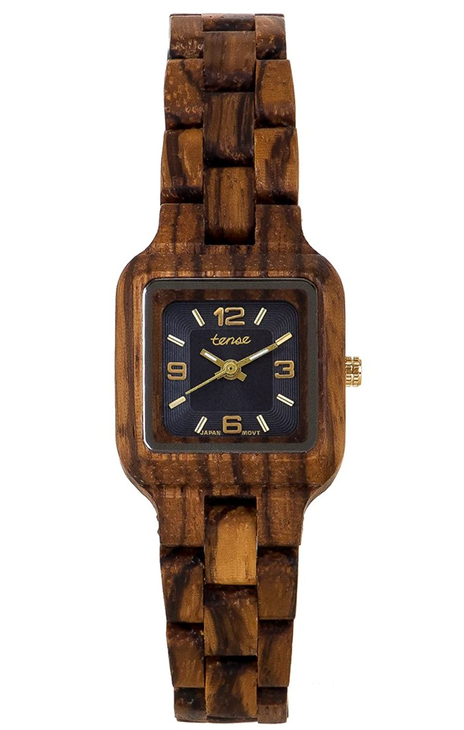 PREMIUM Holz-Uhr TENSE Womens Summit (made in Canada) - Zebranoholz - Damenuhr L7305Z-BG