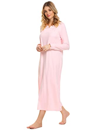 3cf8b151dc Dorani Nighty Dress Women Summer Night Shirt High Waist Long Sleeve Chemise  Sleepwear