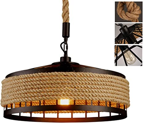 Eisenlampenschirm Retro Kronleuchter Vintage Deckenlampen Hängelampe Cafe Bar
