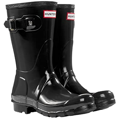 Hunter Boots Original Short Gloss Snow Rain Boots Water Boots Unisex-Black  4M/5F