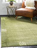 Unique Loom Del Mar Collection Contemporary Transitional Light Green Area Rug (2′ x 3′) For Sale