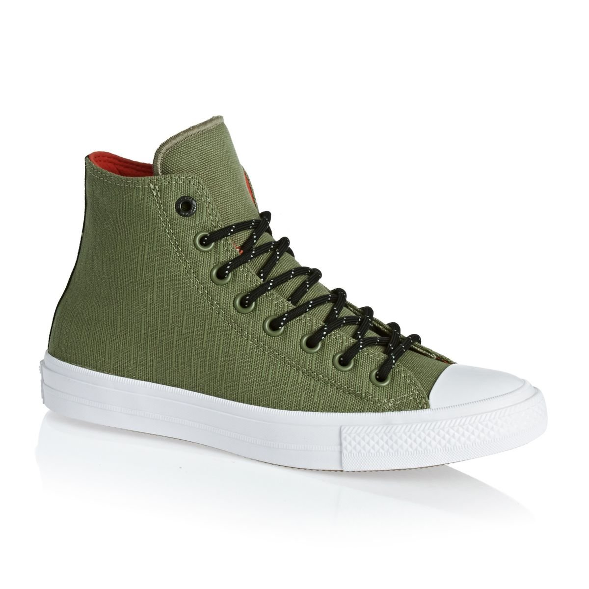 Converse Trainers Chuck Taylor All Star Chuck II Shied zapatos – Anti-Fatigue verde señal rojo -