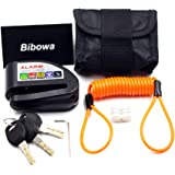 Bibowa Disc Brake Lock with Alarm - Anti -Theft Disc Lock Motorcycle Alarm with 110dB Alarm Sound 5ft Reminder Cable and…