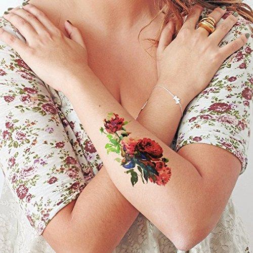 Peonia - Tatuajes temporales: Amazon.es: Handmade